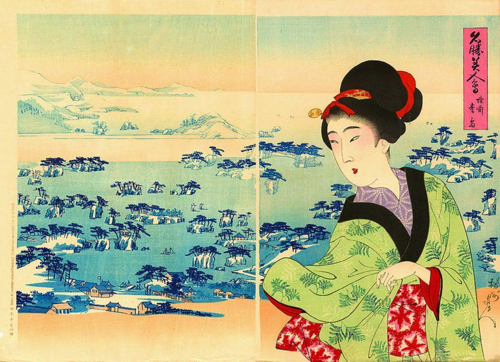 Matsushima by Yoshu Chikanobu, in 1898.