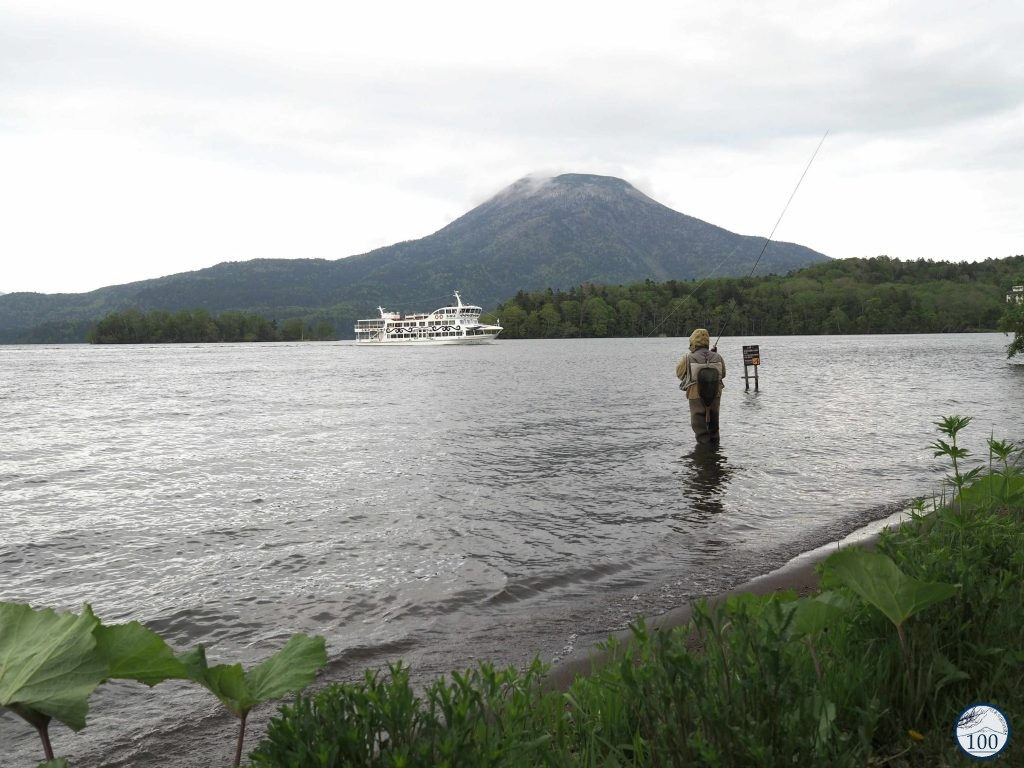 Sur les bords du lac Akan