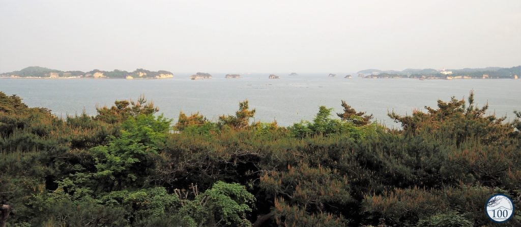 Evening lights on Matsushima bay.