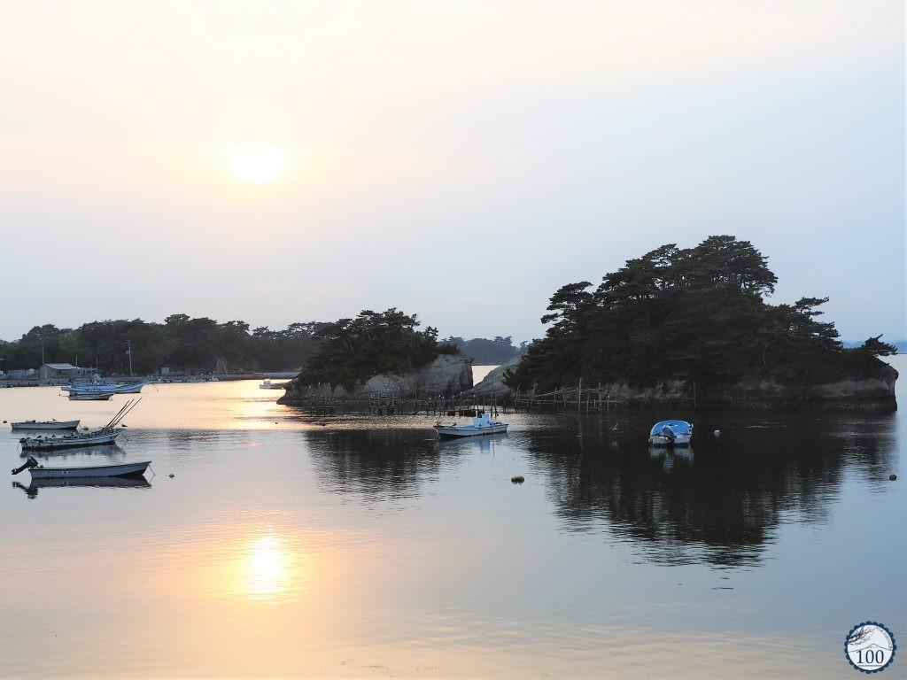 Coucher de soleil à Matsushima.