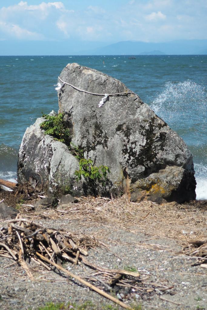 roche sacré - Lac Biwa