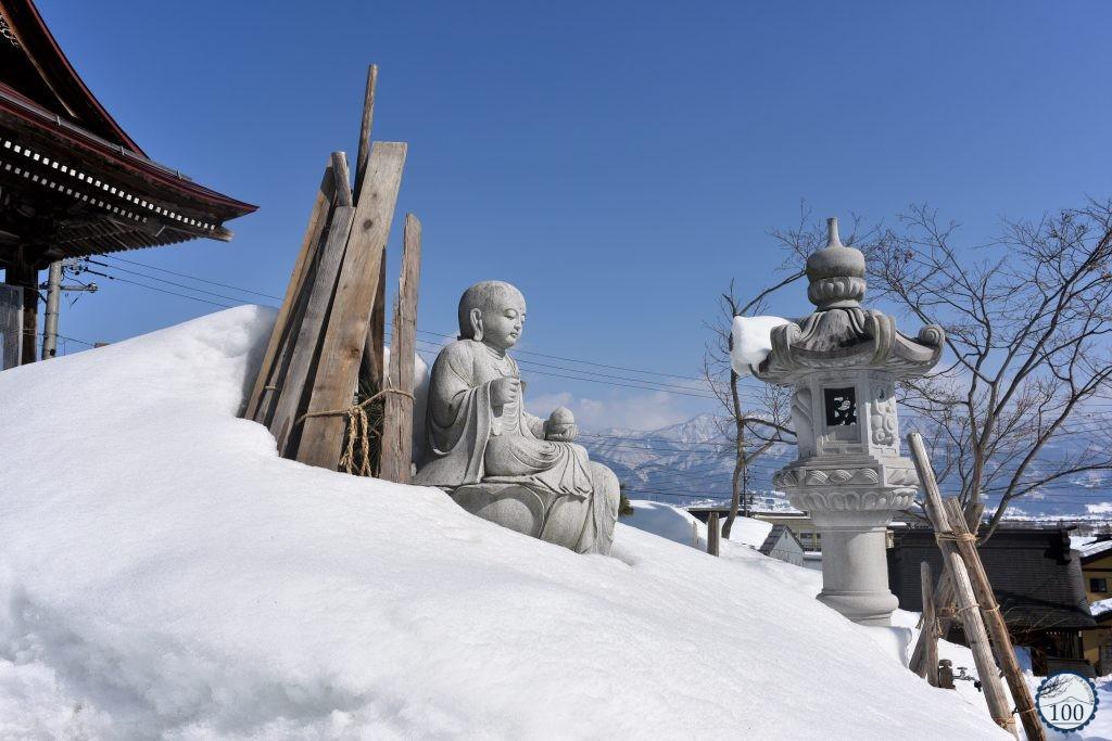 Statue au temple Meisho d'Iiyama - Nagano