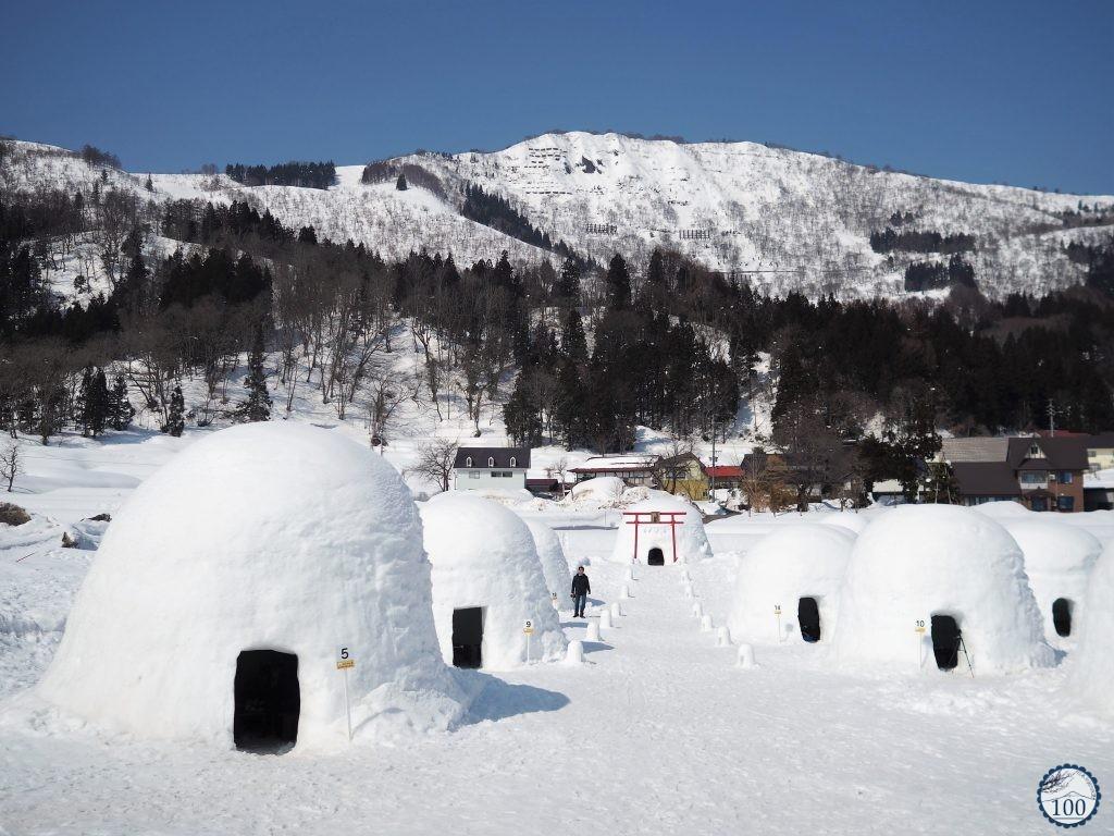 Igloo japonais kamkura à Iyama - Nagano