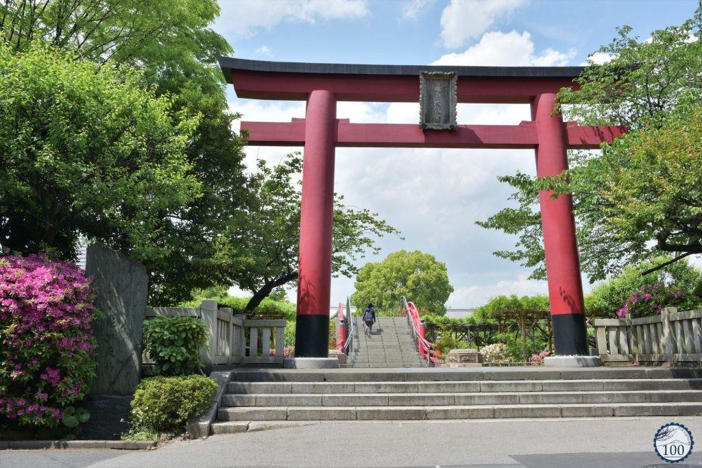 Le grand torii du Kameido Tenjin à Tokyo