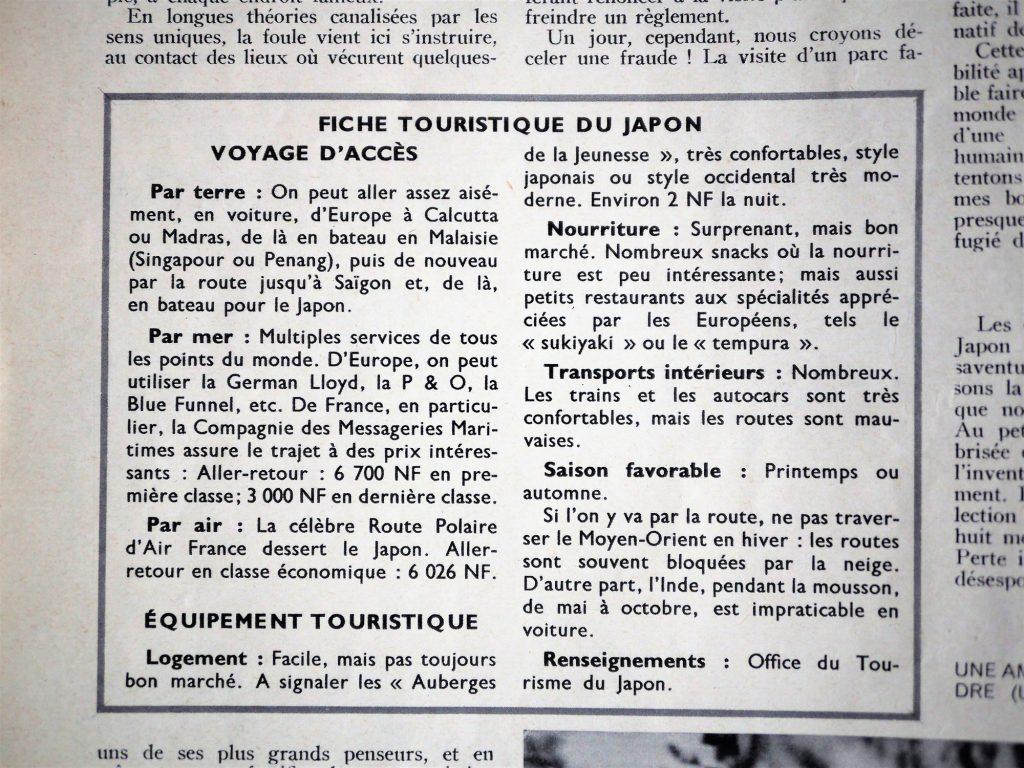 Sciences et voyages Japon