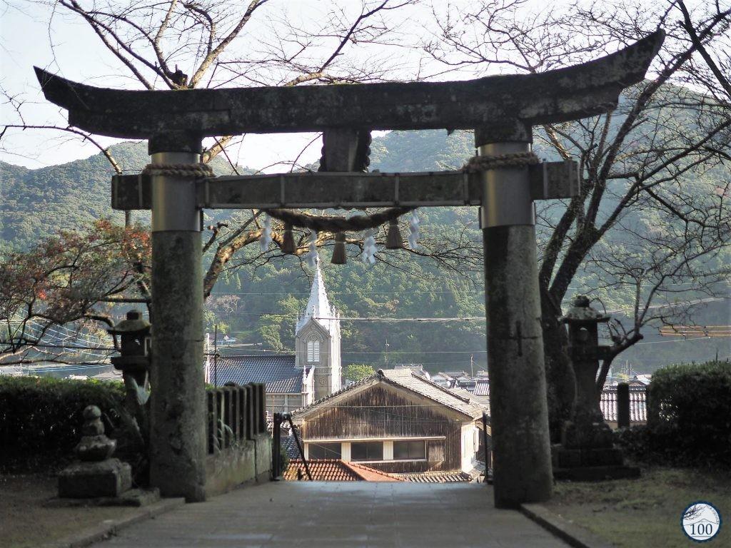 L'église de Sakitsu et le sanctuaire